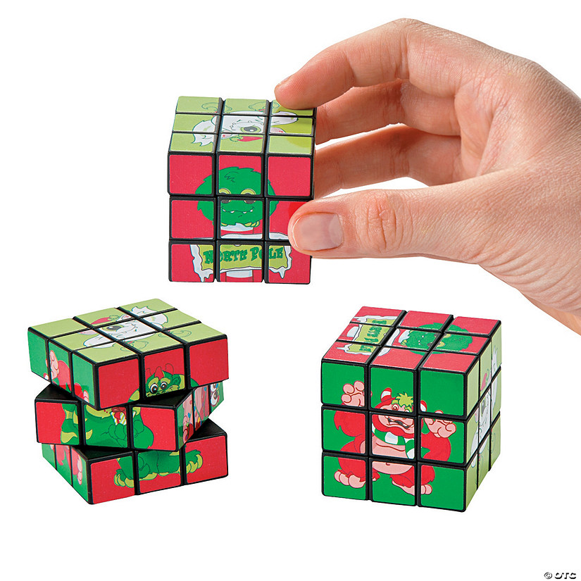 Merry Monster Mini Puzzle Cubes
