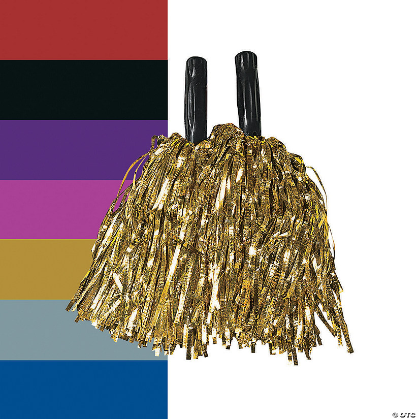 Metallic Cheer Pom-Poms - 12 Pc. Audio Thumbnail