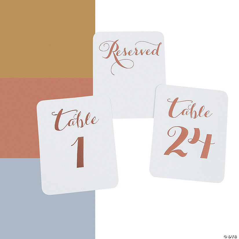 Metallic Foil Table Numbers