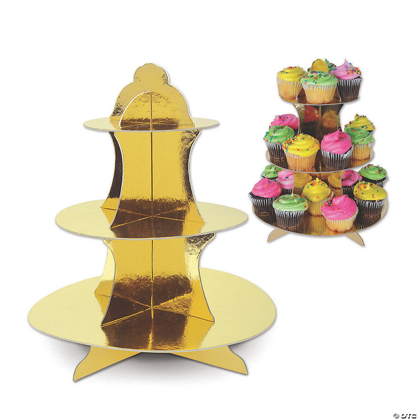 Metallic Gold Cupcake Stand Audio Thumbnail