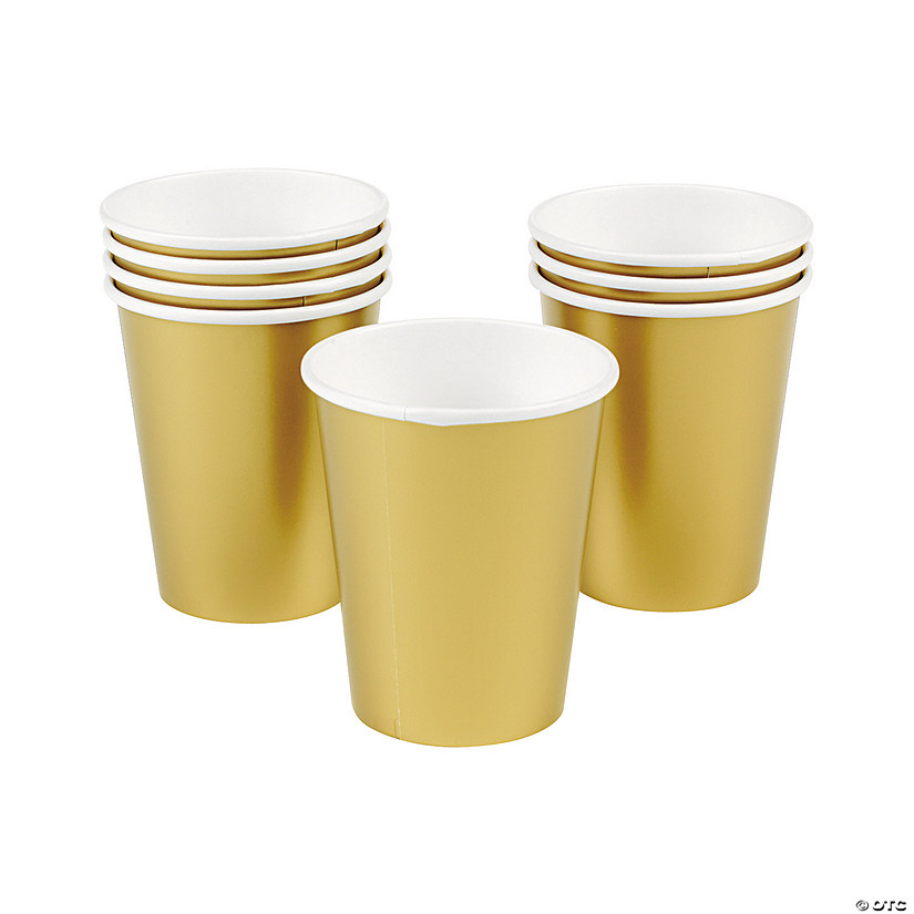 Metallic Gold Paper Cups - 24 Ct. Audio Thumbnail