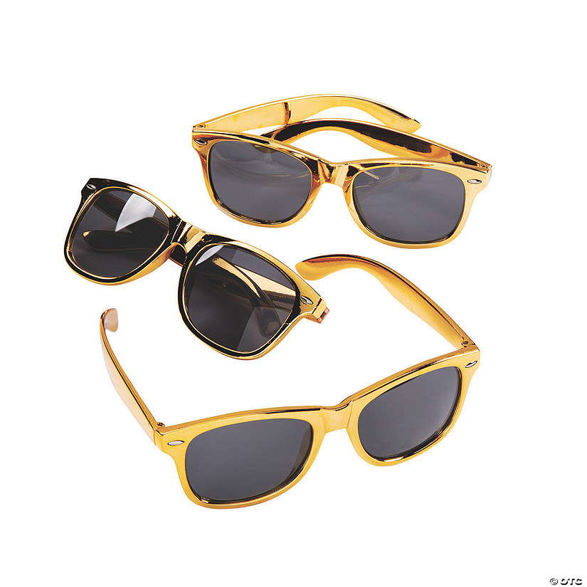 Metallic Gold Sunglasses Audio Thumbnail