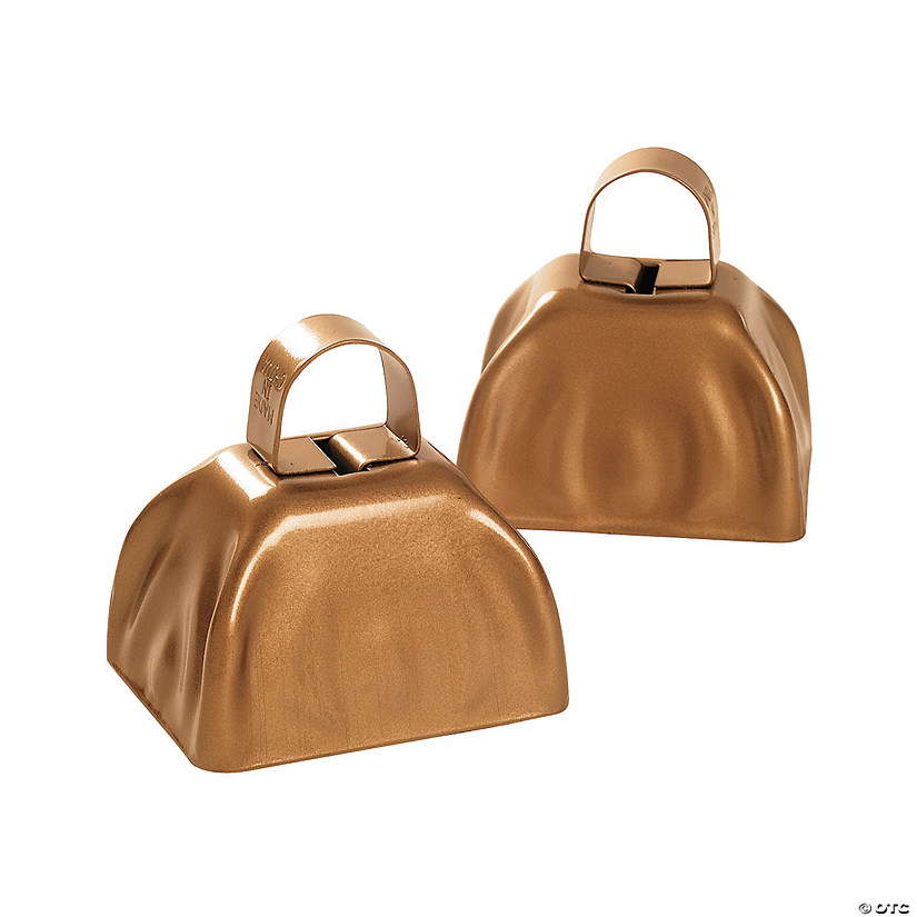 Metallic Goldtone Cowbells