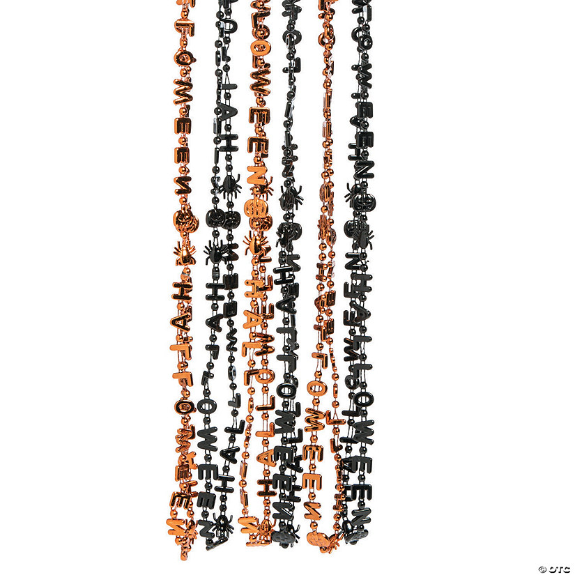 Metallic Halloween Beaded Necklaces Image Thumbnail