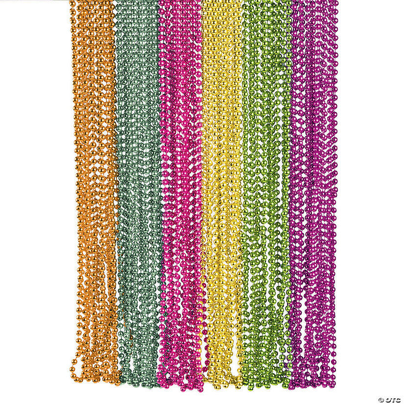 Metallic Neon Beaded Necklace Assortment Audio Thumbnail