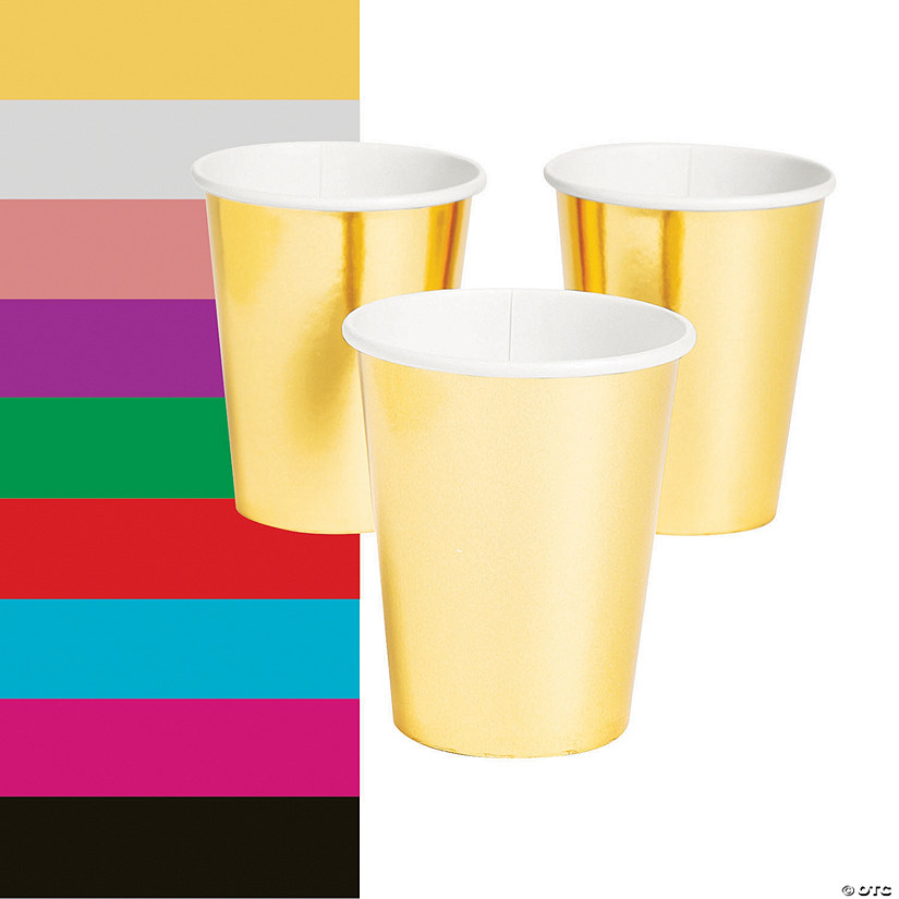 Metallic Paper Cups - 24 Ct. Audio Thumbnail