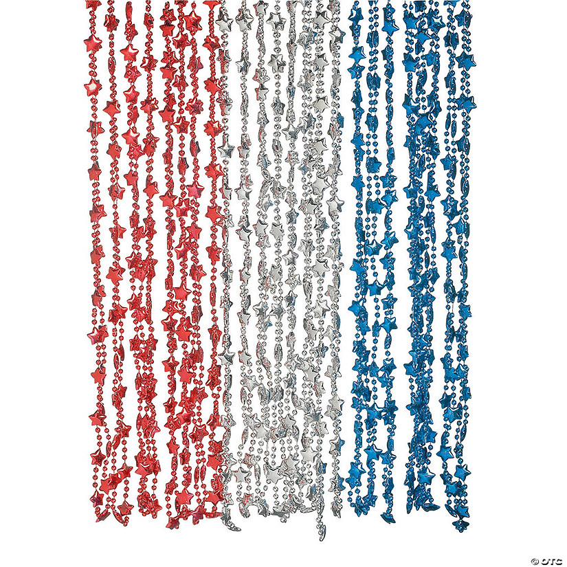 Metallic Patriotic Star Beaded Necklaces Audio Thumbnail