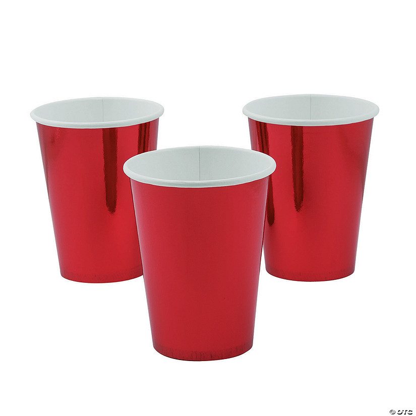 Metallic Red Paper Cups - 8 Ct. Audio Thumbnail