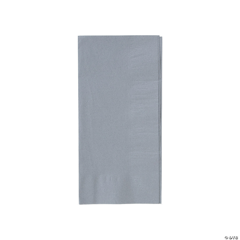 Metallic Silver Dinner Napkins Audio Thumbnail
