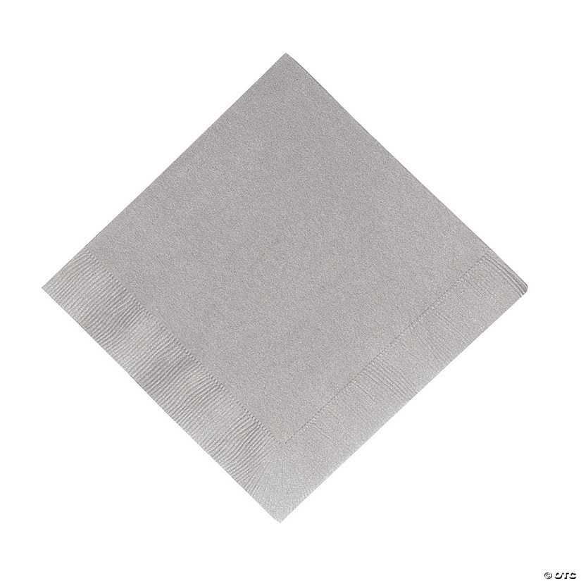 Metallic Silver Luncheon Napkins Audio Thumbnail