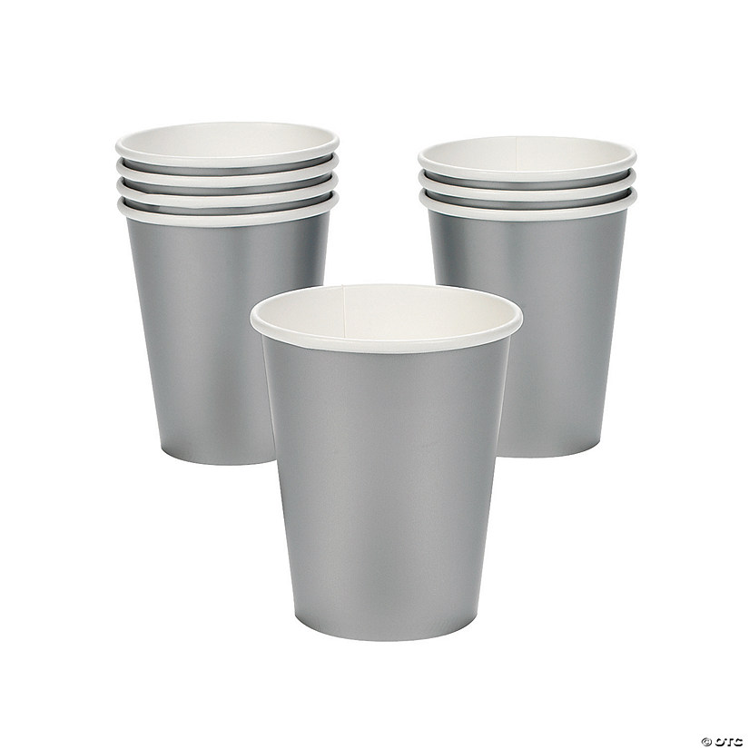 Metallic Silver Paper Cups - 24 Ct. Audio Thumbnail