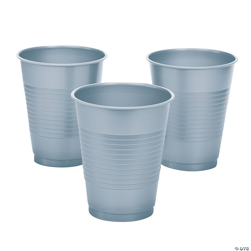 Metallic Silver Plastic Cups - 20 Ct. Audio Thumbnail