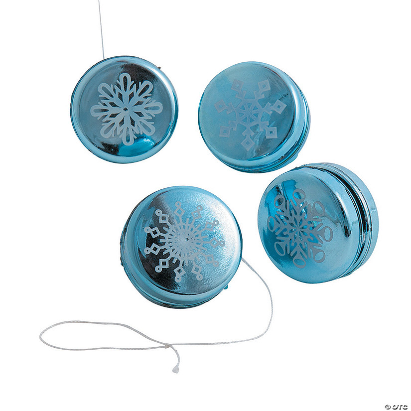 Metallic Snowflake Mini YoYos