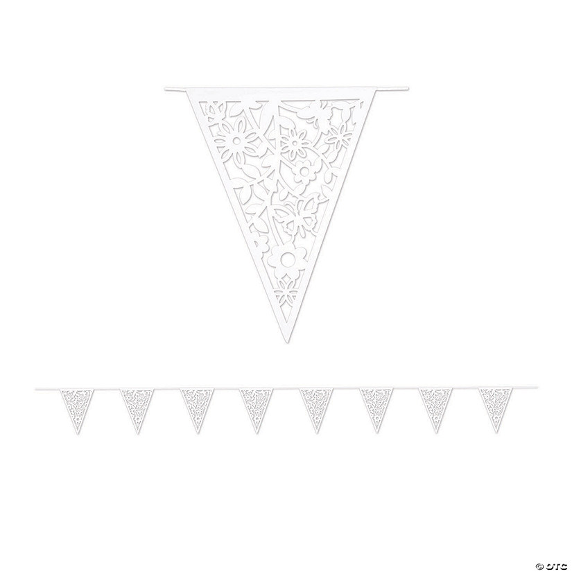 Mexican Floral Wedding Floral Die-Cut Pennant Banner