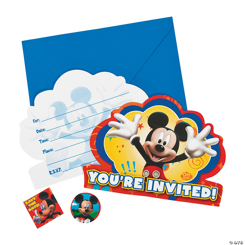 Mickey Friends Invitations Discontinued