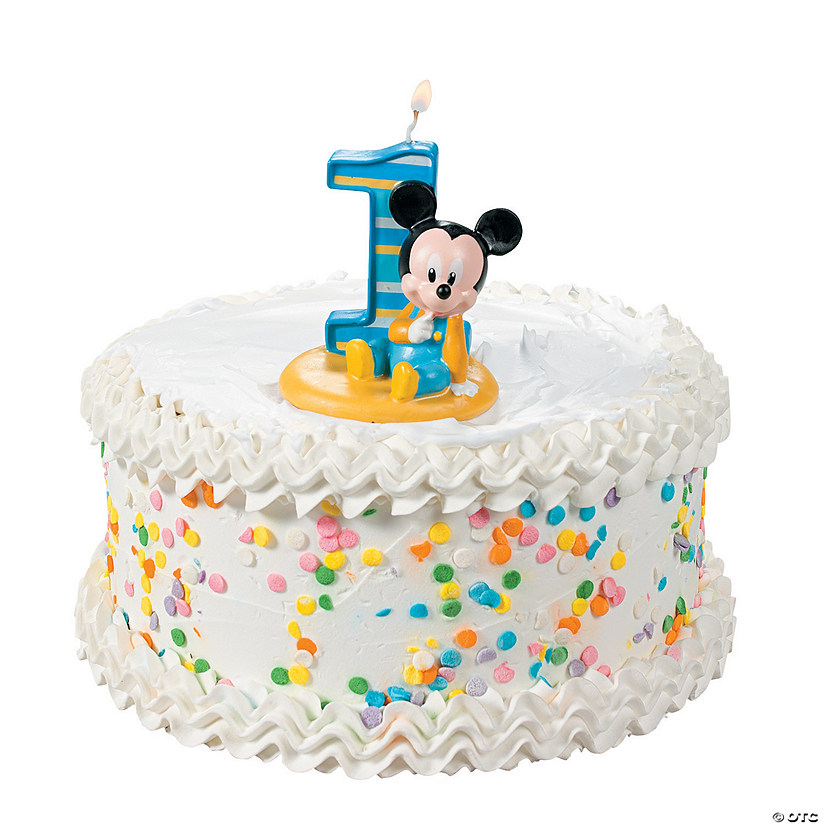 Miraculous Mickeys 1St Birthday Candle Discontinued Funny Birthday Cards Online Alyptdamsfinfo