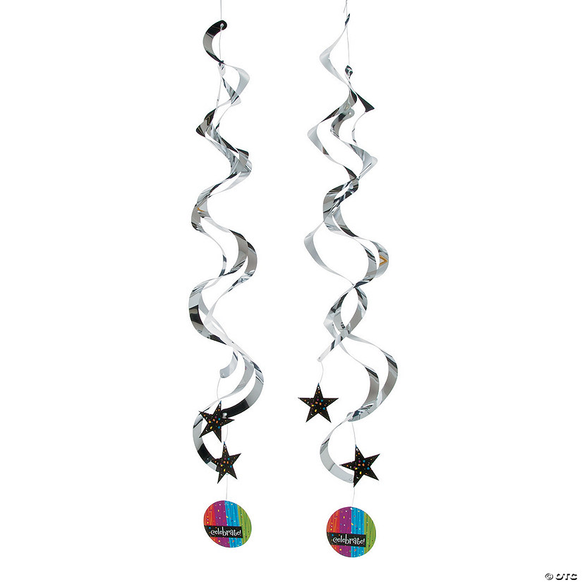Milestone Celebration Hanging Swirl Decorations - 2 Pc. Audio Thumbnail