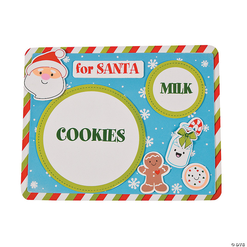 Milk & Cookies for Santa Placemat Craft Kit