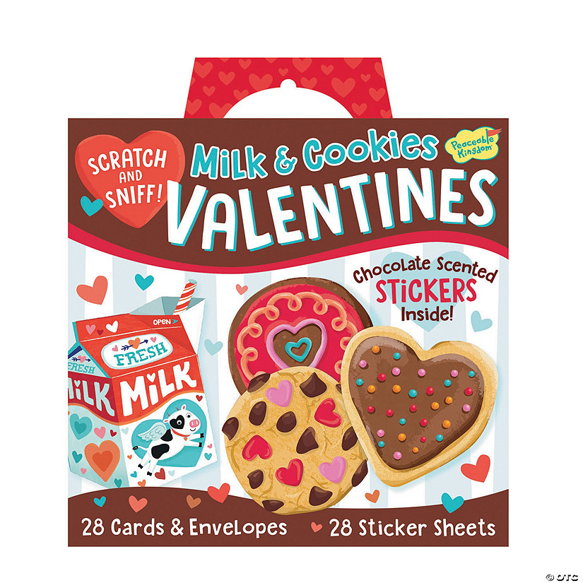 Milk & Cookies Scratch And Sniff Super Fun Valentines Pack Image Thumbnail