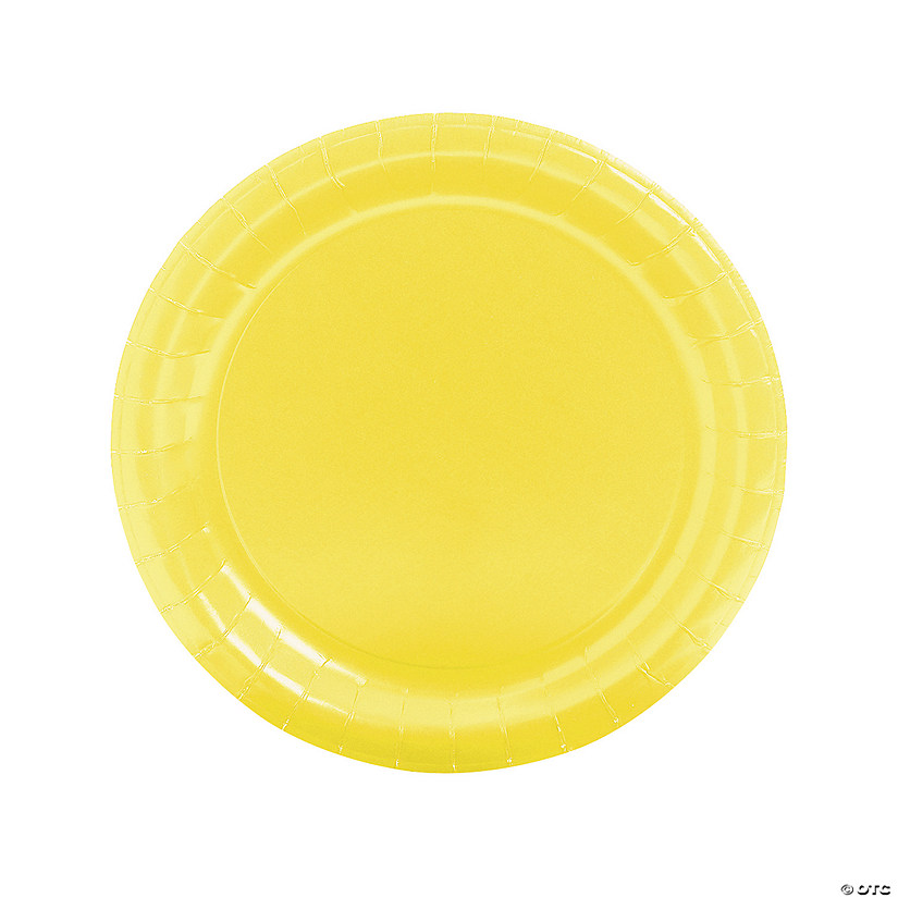 Mimosa Yellow Round Paper Dinner Plates Audio Thumbnail
