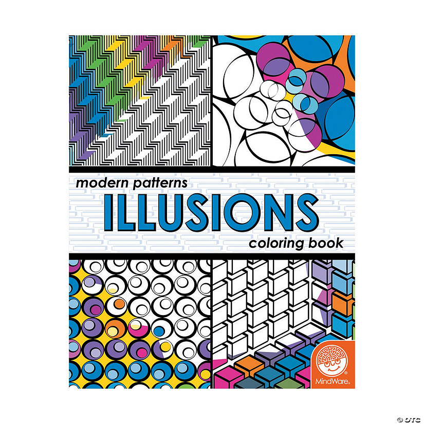 MindWare® Modern Patterns Illusions Adult Coloring Book