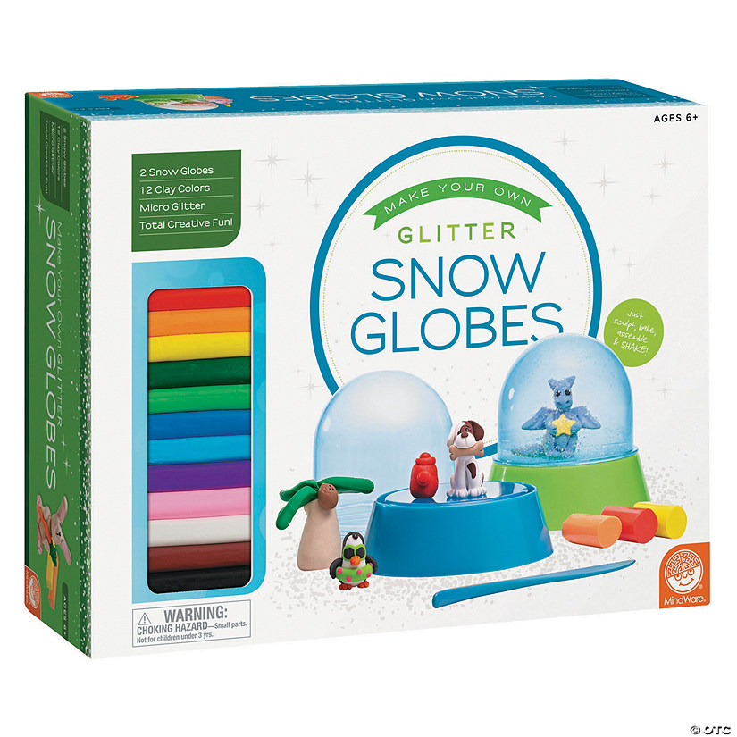 MindWare<sup>®</sup> Make Your Own Glitter Snow Globes