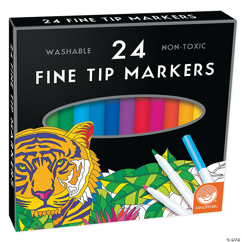 MindWare's Fine Tip Markers: Set of 24 Image Thumbnail