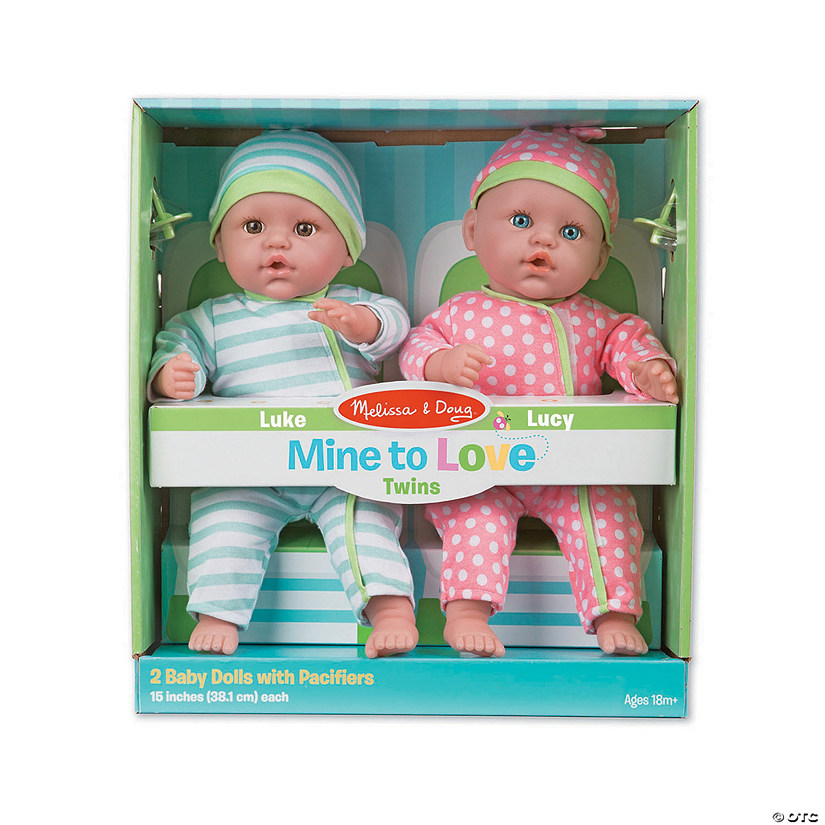 Mine to Love Luke & Lucy Twin Baby Dolls Image Thumbnail