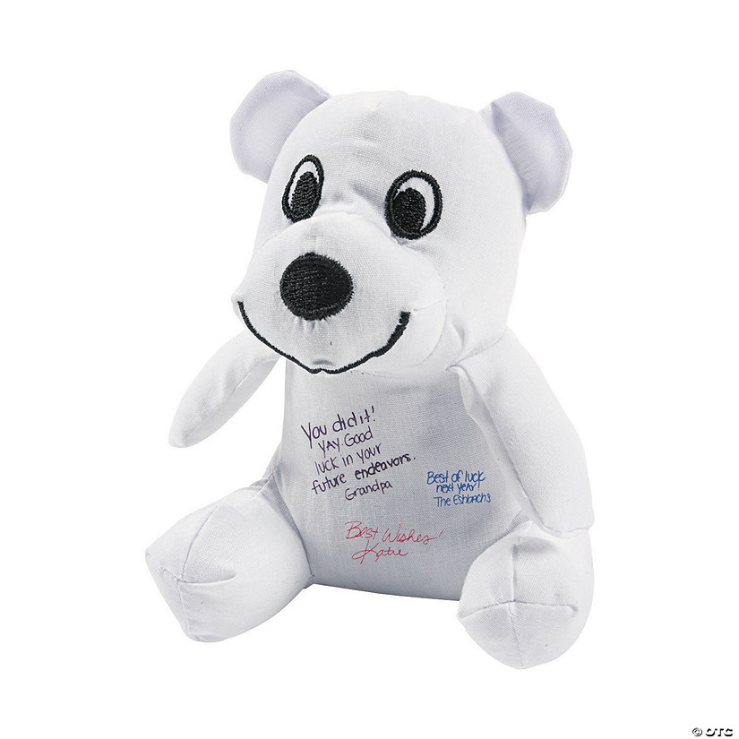 Mini Autograph Stuffed Bears Image Thumbnail