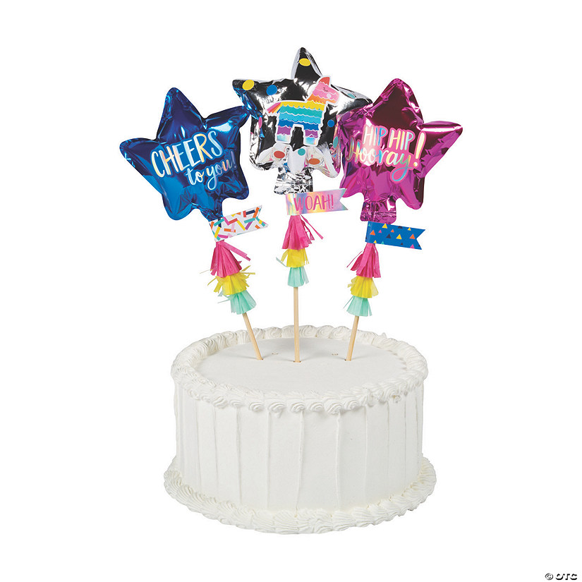 Mini Balloon Cake Toppers | Oriental Trading