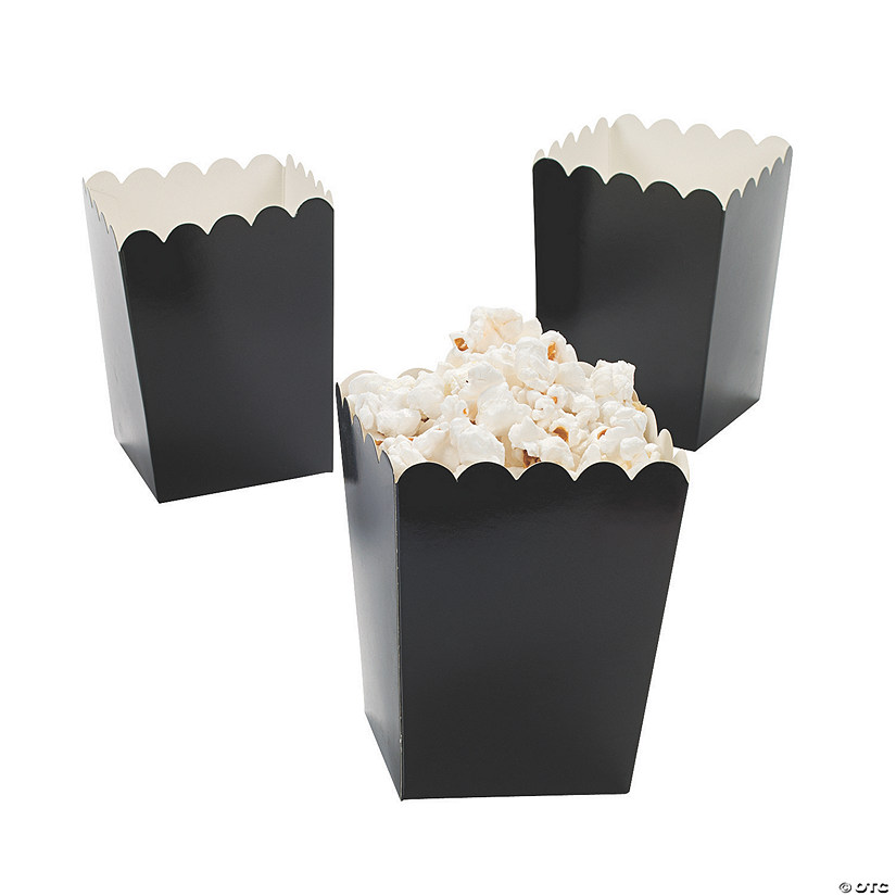 Mini Black Popcorn Boxes