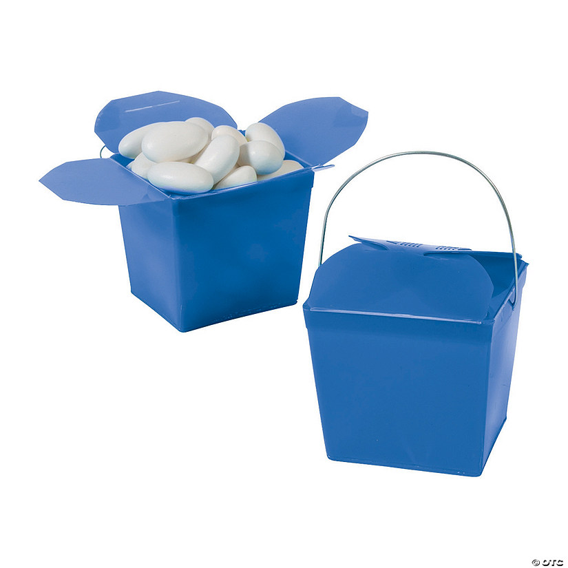 Mini Blue Takeout Boxes