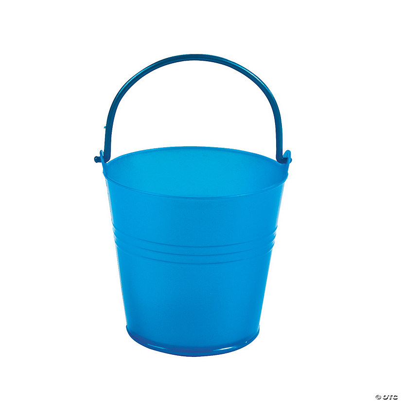 Mini Bright Blue Favor Pails Audio Thumbnail