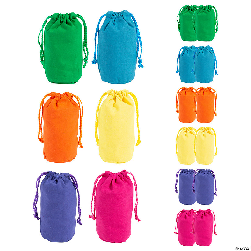 Mini Bright Color Canvas Drawstring Bags Image Thumbnail