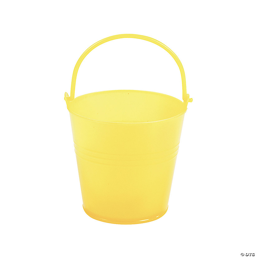 Mini Bright Yellow Favor Pails