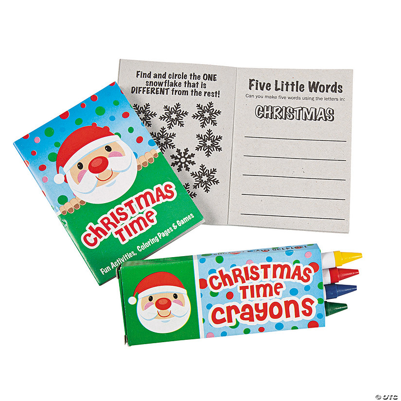 Mini Christmas Activity Books With Crayons Discontinued