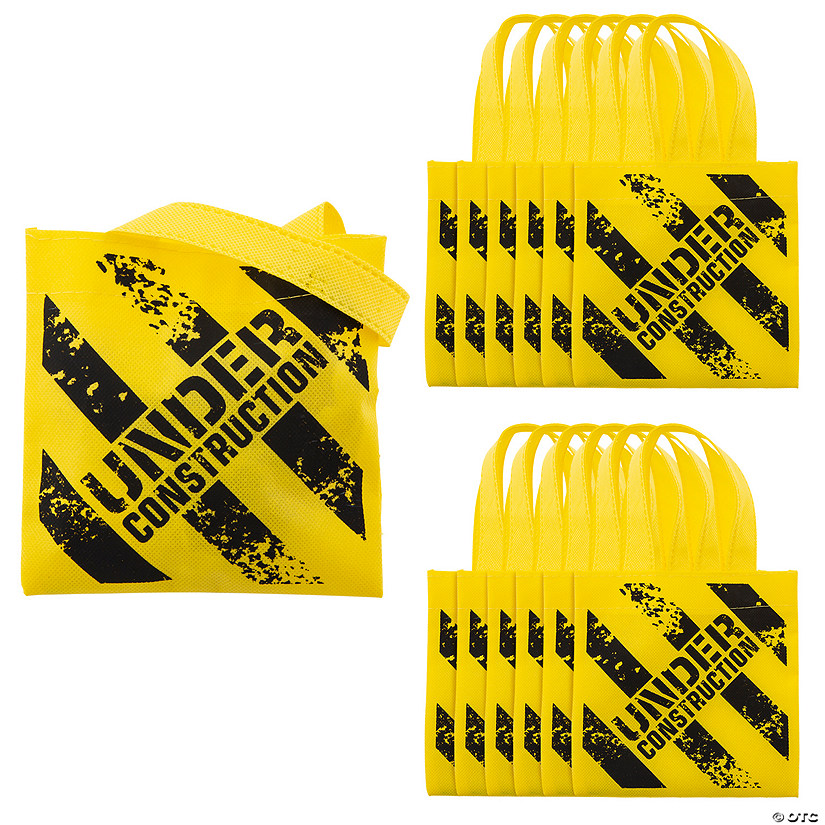 Mini Construction Zone Tote Bags Image Thumbnail