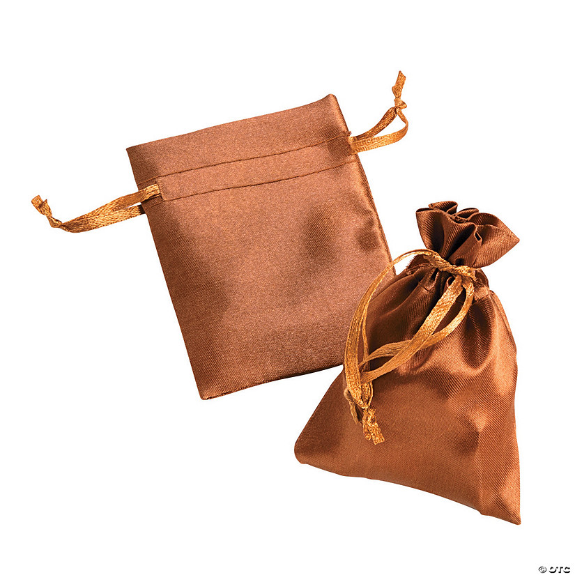 Mini Copper Drawstring Treat Bags