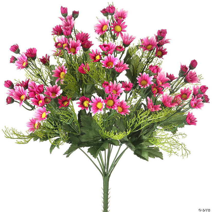 "Mini Daisy Bush X12 18""-Hot Pink"