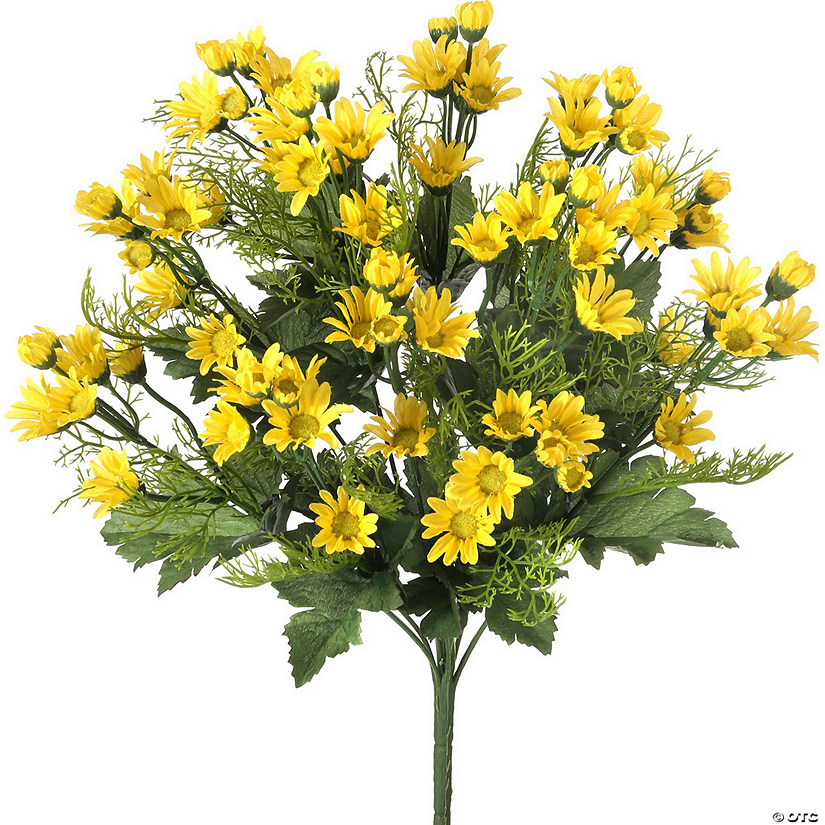 "Mini Daisy Bush X12 18""-Yellow"