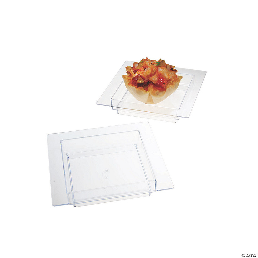 Mini Deep Square Plastic Dishes