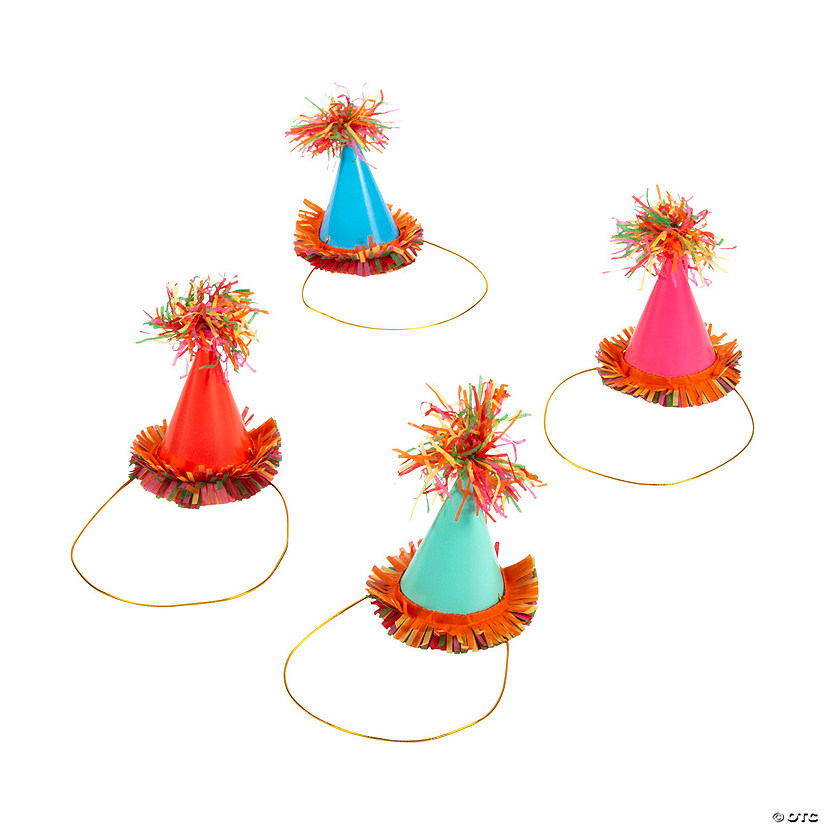 Mini Fiesta Floral Bright Cone Party Hats Audio Thumbnail