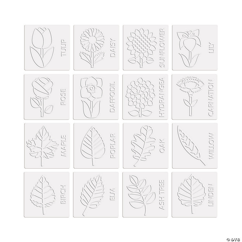 Mini Flowers & Leaves Rubbing Plate Set Audio Thumbnail