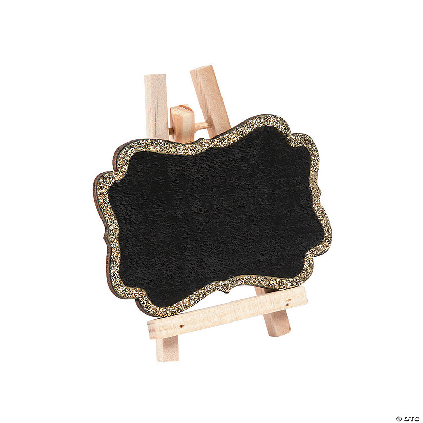 Mini Gold Glitter Trim Chalkboards with Easel Audio Thumbnail