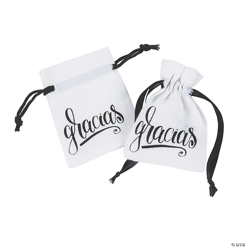Mini Gracias Drawstring Favor Bags Audio Thumbnail
