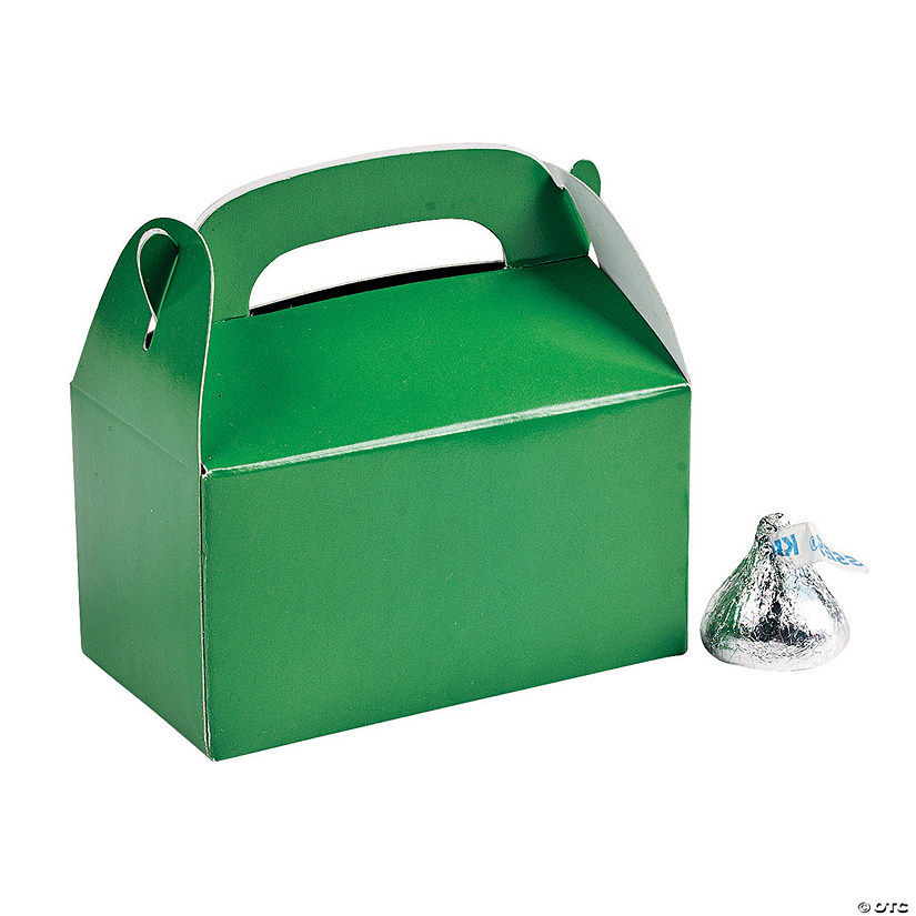 Mini Green Favor Boxes Image Thumbnail