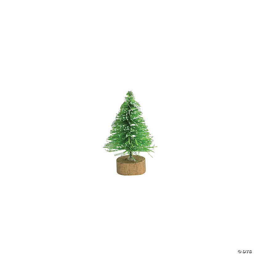 Mini Green Frosted Sisal Trees