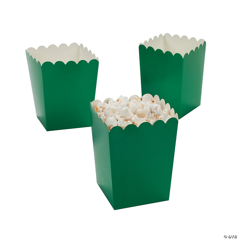 Mini Green Popcorn Boxes Image Thumbnail