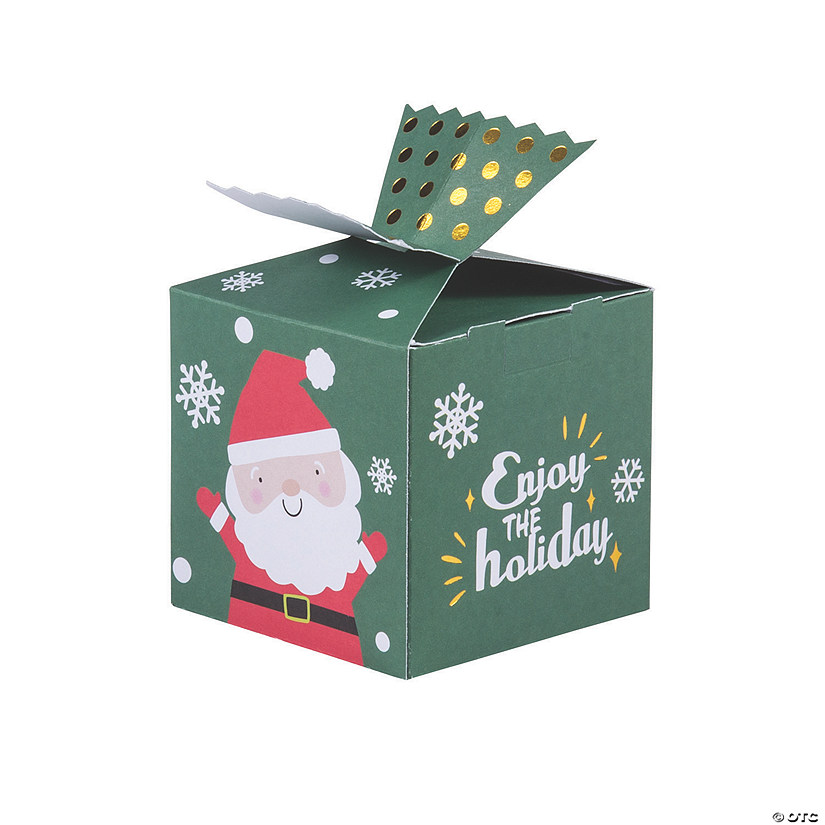 Mini Holiday Favor Boxes with Cellophane Window Image Thumbnail