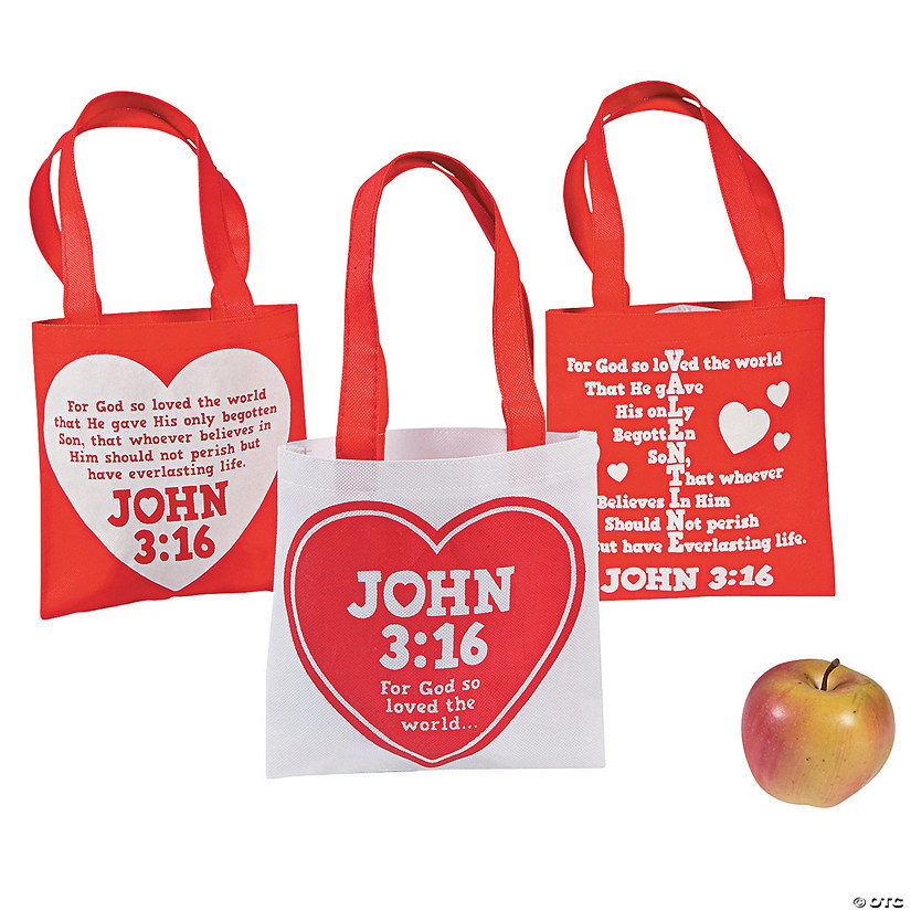 Mini John 3:16 Valentine's Day Tote Bags Audio Thumbnail